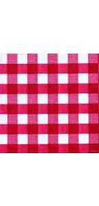 Lot de 20 serviettes intissée Bistrot rouge 40 x 40 cm