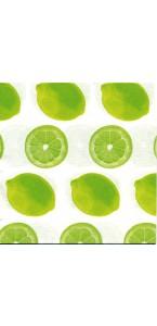 Lot de 20 serviettes intissée Lemon 40 x 40 cm