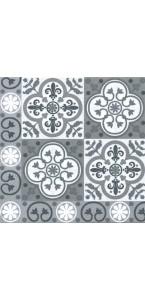 Lot de 20 serviettes jetables carreaux gris 40 x 40 cm