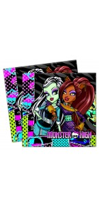 Lot de 20 serviettes jetables en papier Monster High