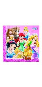 Lot de 20 serviettes jetables Princesses et animaux