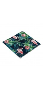Lot de 20 serviettes jetables Tropical 3 plis33 x 33 cm