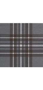 Lot de 20 serviettes  papier intissé écossais gris 25 x 25 cm