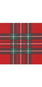 Lot de 20 serviettes  papier intissé écossais rouge 25 x 25 cm