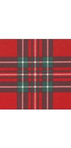 Lot de 20 serviettes  papier intissé écossais rouge 40 x40 cm