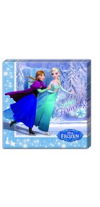 Lot de 20 serviettes Reine des neiges 33x 33 cm