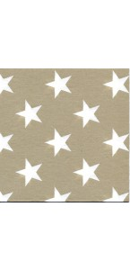 Lot de 20 serviettes Stars or intissé 40 x 40 cm