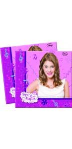 Lot de 20 serviettes Violetta 33 x 33 cm