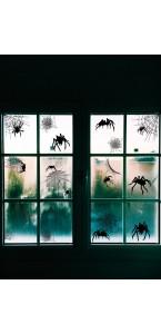 Lot de 24 Autocollants vitrostatiques halloween