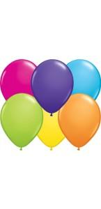 Lot de 24 ballons de baudruche en latex nacré métallisé multicolore