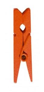 Lot de 24 pinces à linge bois orange PM
