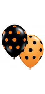 Lot de 25 Ballons Big polka dots en latex