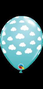Lot de 25 ballons Bleu Nuage en latex 27 cm