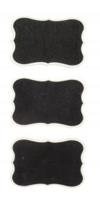 Lot de 3 Ardoises forme vintage 7 x 5 cm