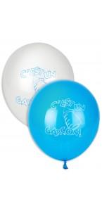 Lot de 3 ballons c'est un garçon baby shower en latex bleu