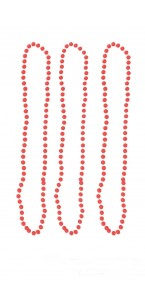 Lot de 3 Colliers de perles rose fluo