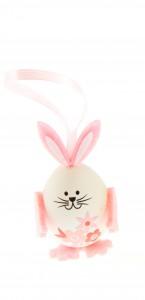 Lot de 3 lapins œuf rose
