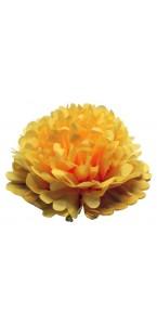 Lot de 3 pompons jaunes déco D 30 cm