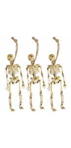 Lot de 3 Squelettes Halloween 15 cm