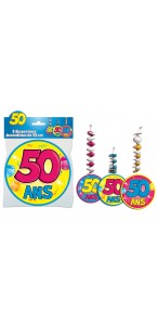 Lot de 3 Suspensions accordéon 50 ans assorties