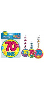 Lot de 3 Suspensions accordéon 70 ans assorties