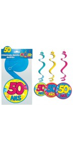 Lot de 3 Suspensions spirale 50 ans