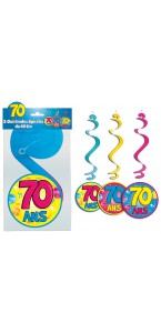 Lot de 3 Suspensions spirale 70 ans