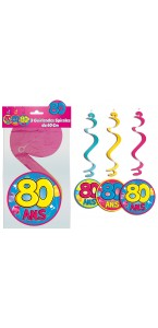 Lot de 3 Suspensions spirale 80 ans