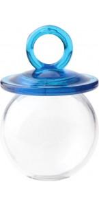 Lot de 4 boites  à dragées Tétine bleue 4,4 x 6,7 cm