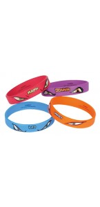 Lot de 4 bracelets Tortues Ninja