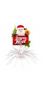 Lot de 4 Centres de table Joyeux Noël Blancs 22 x 28 cm