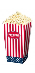 Lot de 4 Cornets pour Popcorn USA Party