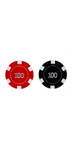 Lot de 4 jetons de casino