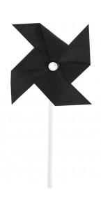 Lot de 4 moulins à vent noirs sur pic 4 x 8 cm