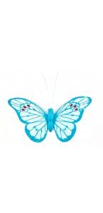 Lot de 4 papillons Turquoise