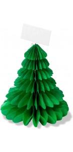 Lot de 4 sapins alvéolés marque-place vert 8 cm
