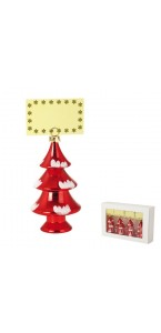 Lot de 4 sapins porte-nom rouges