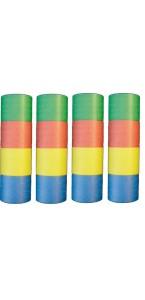 Lot de  4 Serpentins Multicolores