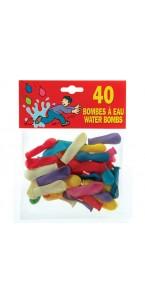 Lot de 40 ballons bombe à eau en latex multicolore