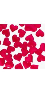 Lot de 40 Coeurs Satin fuschia 3,5 cm