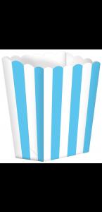 Lot de 5 boîtes Popcorn bleu