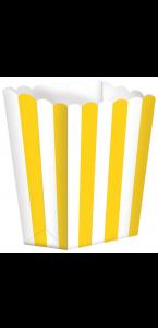 Lot de 5 boîtes Popcorn jaune