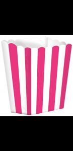 Lot de 5 boîtes Popcorn rose