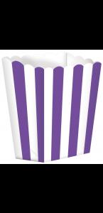 Lot de 5 boîtes Popcorn violet