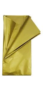 Lot de 5 feuilles papier de soie or 0,50 x 0,70 cm