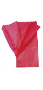 Lot de 5 feuilles papier de soie rouge 0,50 x 0,70 cm