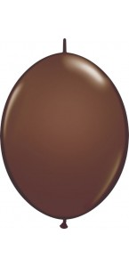 Lot de 50 ballons double attache en latex chocolat