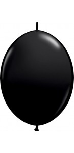 Lot de 50 ballons double attache en latex noir