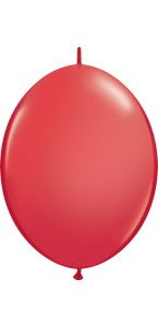 Lot de 50 ballons double attache en latex rouge