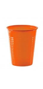 Lot de 50 gobelets jetables en plastique orange20 cl